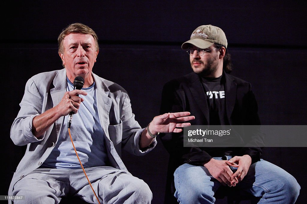 Screenwriters <a gi-track='captionPersonalityLinkClicked' href=/galleries/search?phrase=Larry+Cohen&family=editorial&specificpeople=238848 ng-click='$event.stopPropagation()'>Larry Cohen</a> (L) and <a gi-track='captionPersonalityLinkClicked' href=/galleries/search?phrase=Adam+Rifkin&family=editorial&specificpeople=2798832 ng-click='$event.stopPropagation()'>Adam Rifkin</a> speak during the panel discussion at the Los Angeles special screening of 'Tales From The Script' held at the Egyptian Theatre on August 5, 2009 in Hollywood, California.