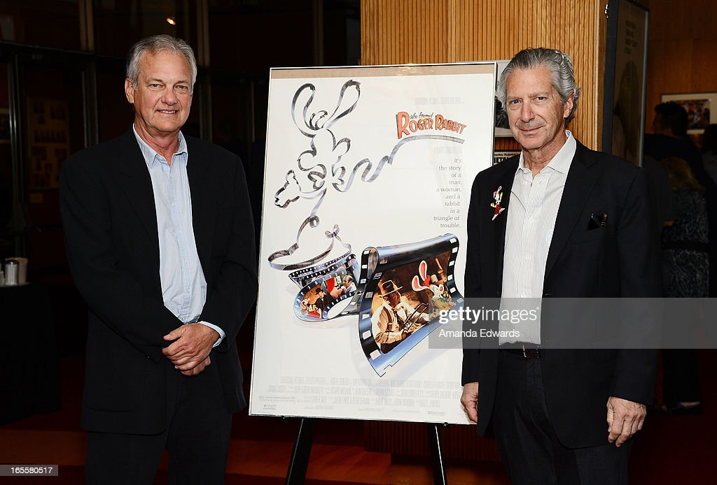 Screenwriters Peter S. Seaman (L) and Jeffrey Price arrive at The Academy Of Motion Picture Arts And Sciences' 25th Anniversary Screening Of 'Who Framed Roger Rabbit' at AMPAS Samuel Goldwyn Theater on April 4, 2013 in Beverly Hills, California.