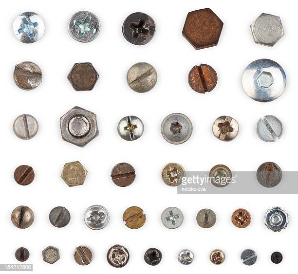 Screws and Bolts (clipping path)