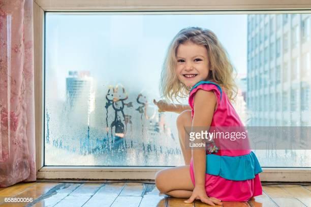 Scribbling on window