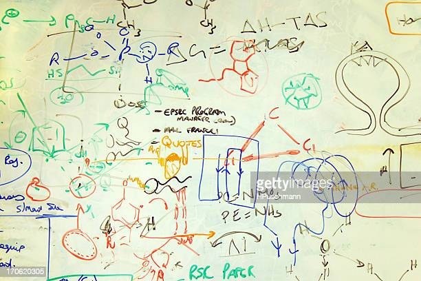 Scribblings on a Chemistry Whiteboard