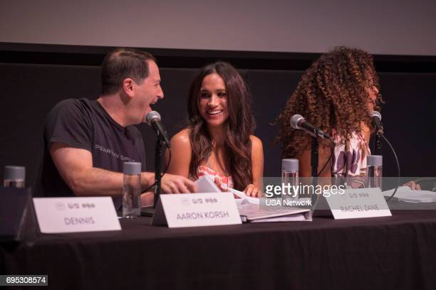 SUITS Script Reading Presented by USA Network Pictured Aaron Korsh Meghan Markle Gina Torres