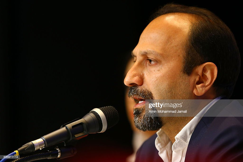 Scriptwriter <a gi-track='captionPersonalityLinkClicked' href=/galleries/search?phrase=Asghar+Farhadi&family=editorial&specificpeople=5700577 ng-click='$event.stopPropagation()'>Asghar Farhadi</a>, winner of the award for Best Script for the movie 'The Salesman' during 2016 Canne Film festival, attends the press Conference on May 30, 2016 in Tehran, Iran.