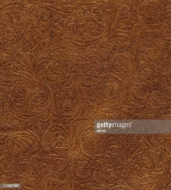 scroll eingraviertem vintage-Leder