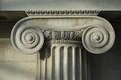 Scrolled Stone Column.
