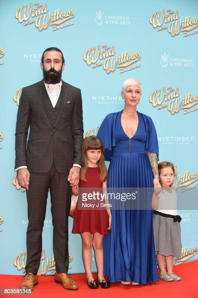 Scroobius Pip and family attends the Gala performance of Wind In The Willows at London Palladium on June 29 2017 in London England