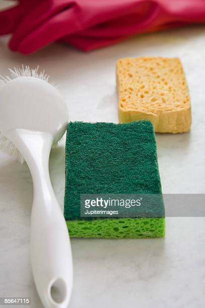 Scrub brush and sponges