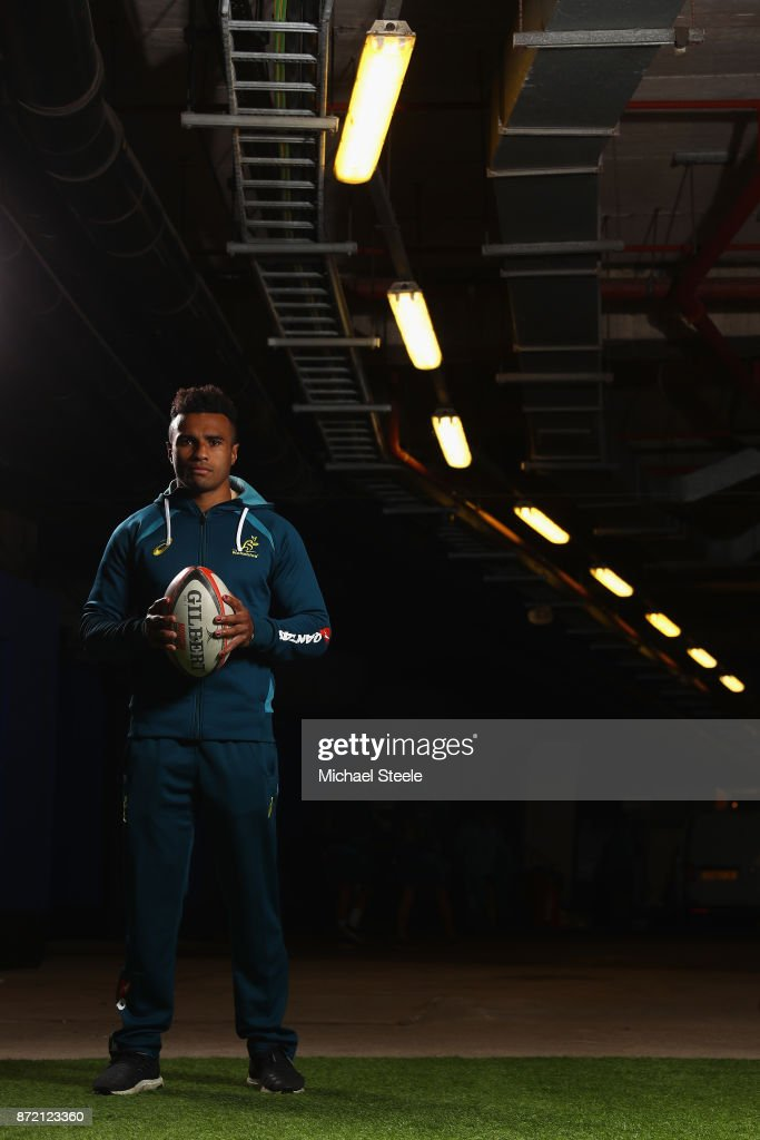 Scrum half Will Genia poses for a portrait following the Australia training session at Cardiff Arms Park on November 9, 2017 in Cardiff, Wales.