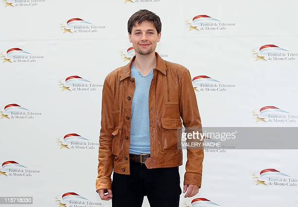 US sctor Gregory Smith poses during a photocall for the TV show 'Rookie Blue' as part of the 2011 Monte Carlo Television Festival held at the...