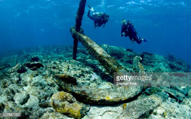 Scuba divers explore wreck site off Grand Cayman's East End