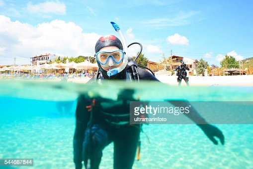 Scuba diving    Scuba diver in blue lagoon