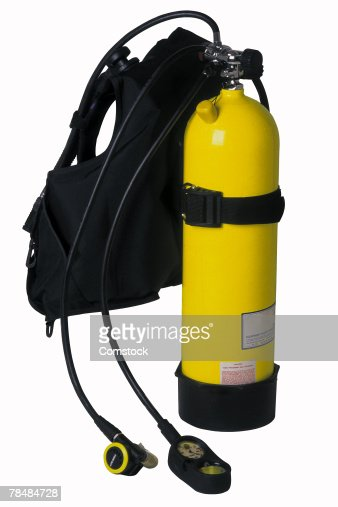 Oxygen cylinder stock photos and pictures getty images for Scuba dive equipment