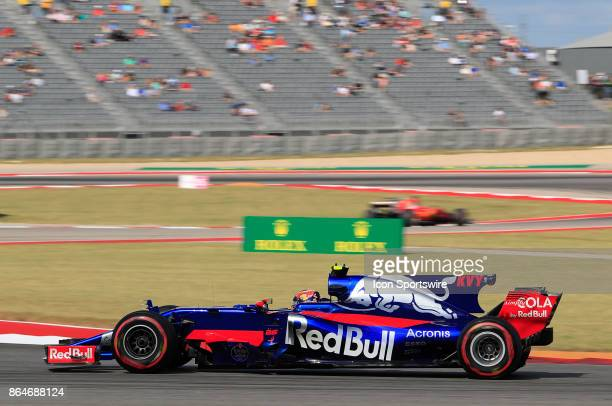 Scuderia Toro Rosso driver Daniil Kvyat of Russia during third practice session classification for the US Grand Prix at Circuit of The Americas on...