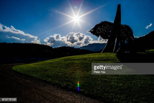 Scuderia Toro Rosso during qualifying for the Formula One Grand Prix of Austria at Red Bull Ring on July 8 2017 in Spielberg Austria