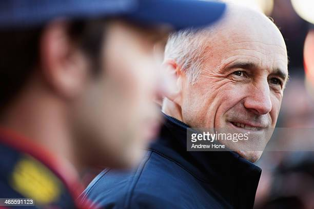 Scuderia Toro Rosso Team Principal Franz Tost attends the launch of their new STR9 Formula One car at the Circuito de Jerez on January 27 2014 in...