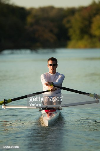 スカル競技スポーツ運動ボート漕ぎボートの湖、船舶
