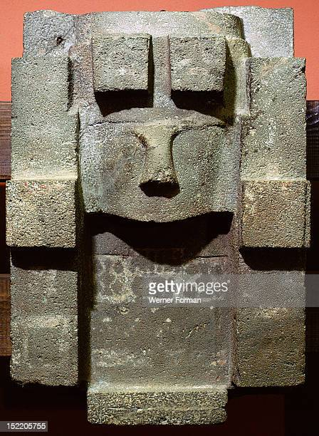 Sculpted stela representing the god Viracocha a creator deity originally worshipped by the pre Inca A god of rain he was believed to have created the...