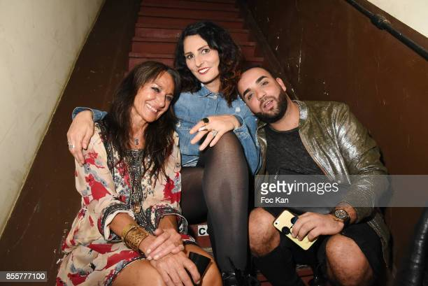 Sculptor Agnes Malterre Sylvie Ortega Munos and a guest attend the Henry Achkoyan Shop Opening on September 29 2017 in Paris France