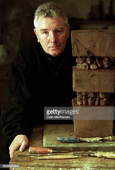 Sculptor author and former gangster Jimmy Boyle photographed in his Edinburgh studio with a piece of his own work Born in 1944 in Gorbals Glasgow he...