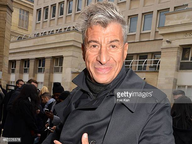 Sculptor Maurizio Cattelan attends the Y3 Menswear Fall/Winter 20152016 show as part of Paris Fashion Week on January 25 2015 in Paris France