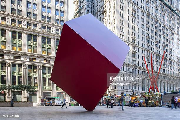 Sculpture along Broadway at Zuccotti Park