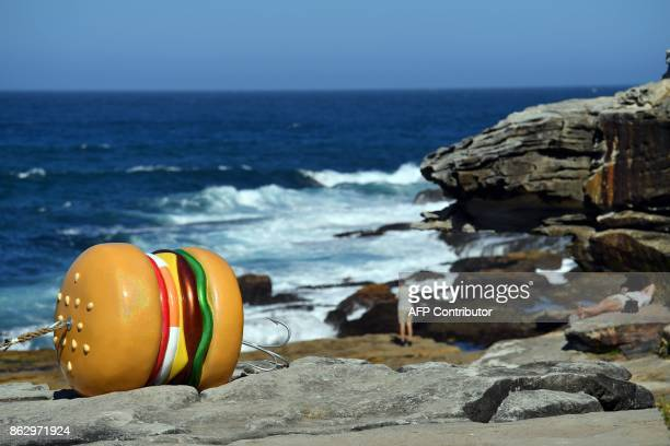 A sculpture by artist James Dive is seen at the 'Sculpture by the Sea' exhibition near Bondi beach in Sydney on October 19 2017 The 'Sculpture by the...
