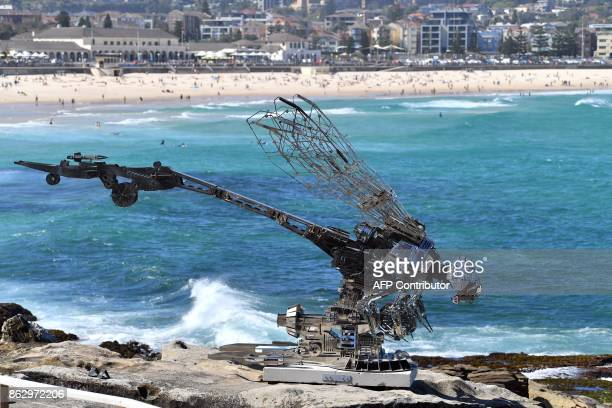 A sculpture by artist Xia Hang from China is seen at the 'Sculpture by the Sea' exhibition near Bondi beach in Sydney on October 19 2017 The...