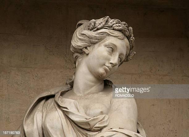 彫刻、トレビの泉、ローマ、イタリア