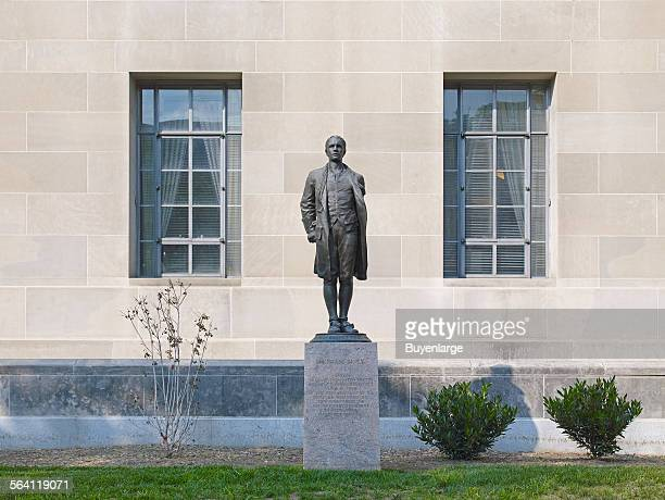 Sculpture Nathan Hale located at exterior Department of Justice Constitution Ave Washington DC