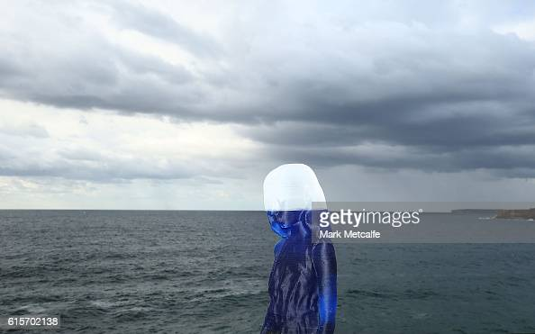 A sculpture of a young girl is seen during Sculpture By The Sea at Tamarama on October 20 2016 in Sydney Australia