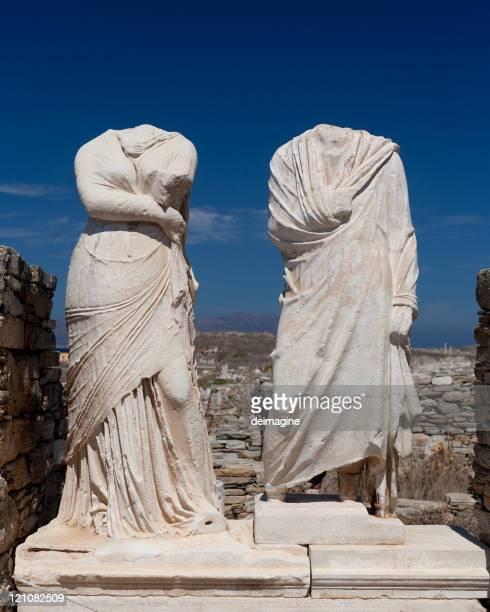Sculpture de Cléopâtre de Délos.