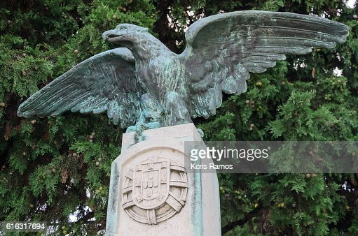 Sculpture of eagle with Royal Coat of Arms of Belém. Lisbon. Portugal : Stock Photo