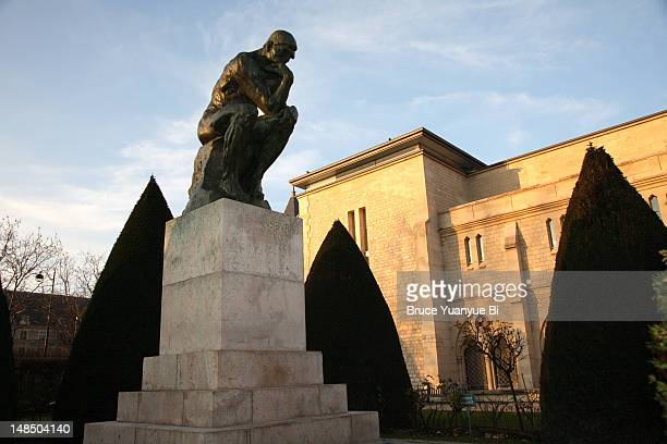 Sculpture of Le Penseur (The Thinker) in Musee Rodin.