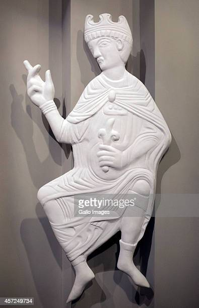 Sculpture of Saint Wojciech at the Core Exhibition of Polin on October 10 2014 at Polin Museum of History in Warsaw Poland The museum looks at the...