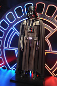 A sculpture of science fiction character 'Darth Vader' from the film 'Star Wars' is on display in the 'STAR WARS Identities' exhibition press...