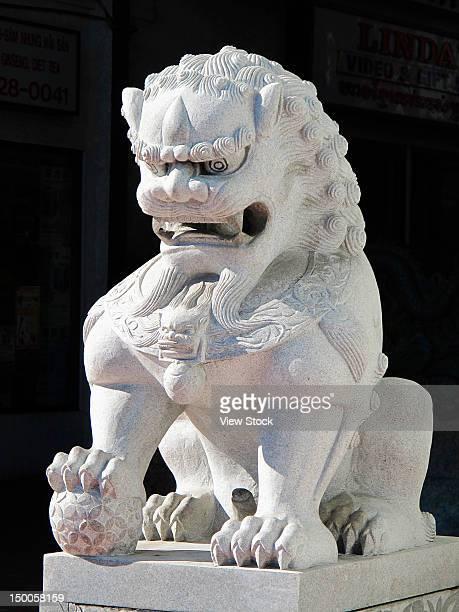 Sculpture of stone lion