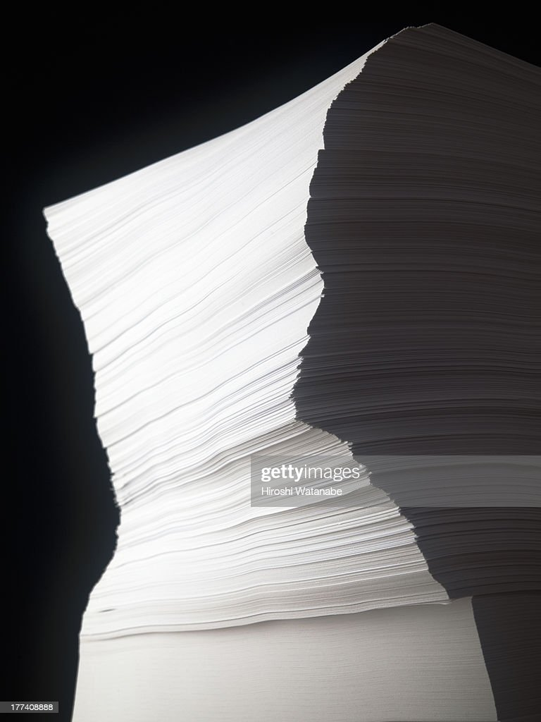 Sculpture of the stack of documents