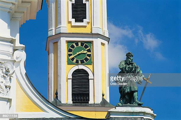 Sculpture on Baroque Abbey Church , Germany
