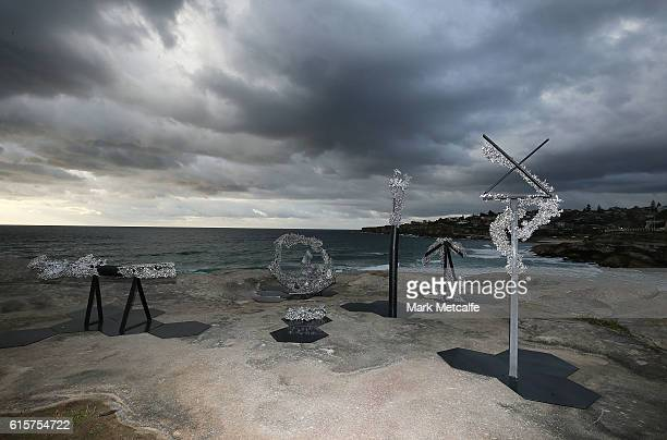 Sculptures are seen at Sculpture By The Sea at Tamarama on October 20 2016 in Sydney Australia