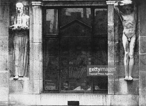 Sculptures by Americanborn British sculptor Jacob Epstein on the second floor of the British Medical Association headquarters at 429 The Strand...