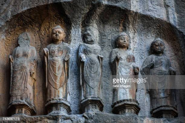 Sculptures from Longmen Caves in Luoyang, Henan, China
