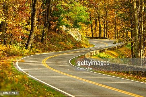 S-Curve Road, Skyline Drive Virginia