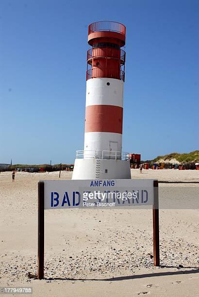 Südstrand mit Leuchtturm auf der Düne Insel Helgoland SchleswigHolstein Deutschland Europa Nordsee Strand Reise