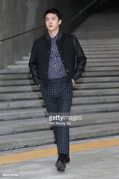 Se Hun of boy band EXOK attends the photocall for Volez Voguez Voyagez Louis Vuitton Exhibition at DDP on June 7 2017 in Seoul South Korea