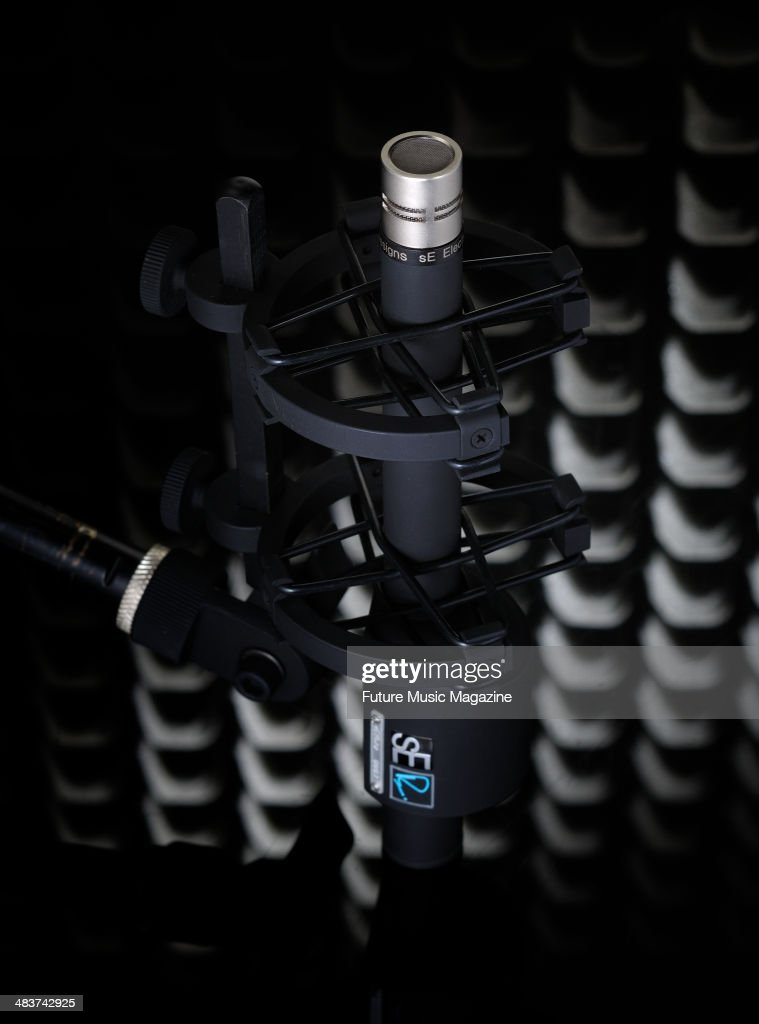 A sE RN17 multicapsule condenser microphone photographed during a studio shoot for Future Music Magazine August 4 2011