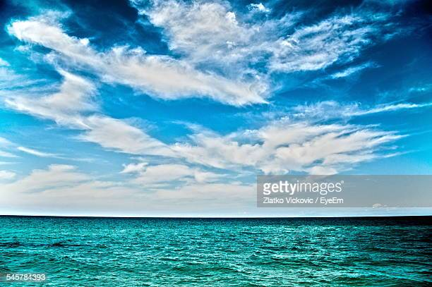 Sea Against Cloudy Sky