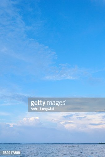 Sea and Blue Sky Background : Stock Photo