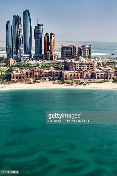 Sea and skyscrapers in Abu Dhabi
