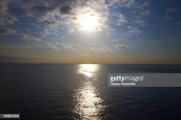 Sea at sunset at Tokyo Bay, Chiba Prefecture