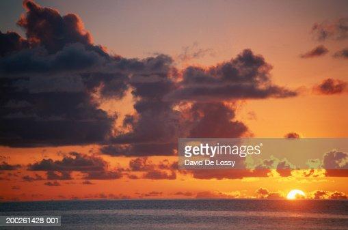 Sea at sunset : Stock Photo